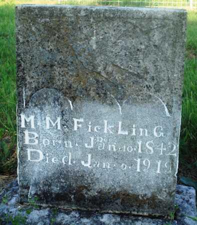 FICKLING, M M - Newton County, Arkansas   M M FICKLING - Arkansas Gravestone Photos