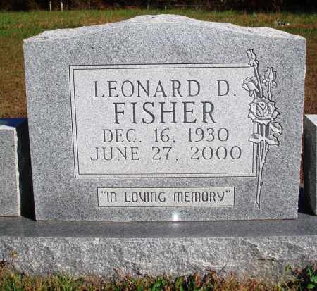 FISHER, LEONARD D. - Newton County, Arkansas   LEONARD D. FISHER - Arkansas Gravestone Photos