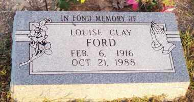 CLAY FORD, LOUISE - Newton County, Arkansas   LOUISE CLAY FORD - Arkansas Gravestone Photos