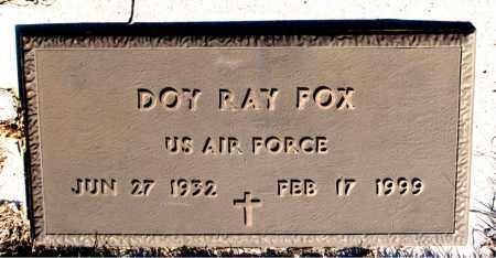 FOX  (VETERAN), DOY RAY - Newton County, Arkansas | DOY RAY FOX  (VETERAN) - Arkansas Gravestone Photos