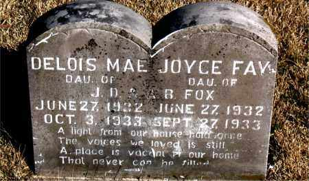 FOX, JOYCE FAY - Newton County, Arkansas | JOYCE FAY FOX - Arkansas Gravestone Photos