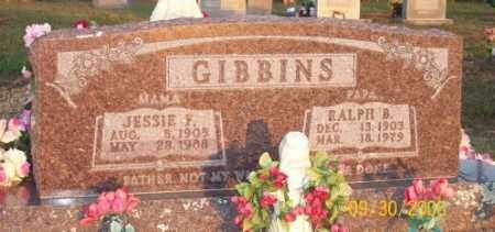GIBBINS, RALPH B. - Newton County, Arkansas | RALPH B. GIBBINS - Arkansas Gravestone Photos