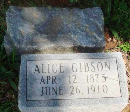 GIBSON, ALICE - Newton County, Arkansas   ALICE GIBSON - Arkansas Gravestone Photos