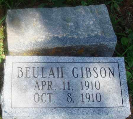 GIBSON, BEULAH - Newton County, Arkansas | BEULAH GIBSON - Arkansas Gravestone Photos