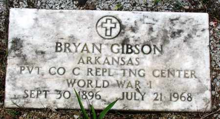GIBSON (VETERAN WWI), BRYAN - Newton County, Arkansas | BRYAN GIBSON (VETERAN WWI) - Arkansas Gravestone Photos