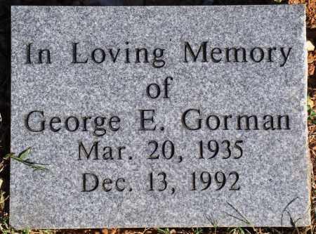 GORMAN, GEORGE E. - Newton County, Arkansas | GEORGE E. GORMAN - Arkansas Gravestone Photos
