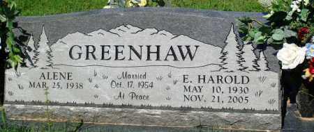GREENHAW, E. HAROLD - Newton County, Arkansas | E. HAROLD GREENHAW - Arkansas Gravestone Photos