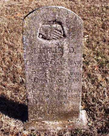 "REDDELL GREENHAW, LILABELL D ""LILLIE"" - Newton County, Arkansas | LILABELL D ""LILLIE"" REDDELL GREENHAW - Arkansas Gravestone Photos"