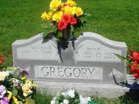 GREGORY, DEVOE - Newton County, Arkansas | DEVOE GREGORY - Arkansas Gravestone Photos
