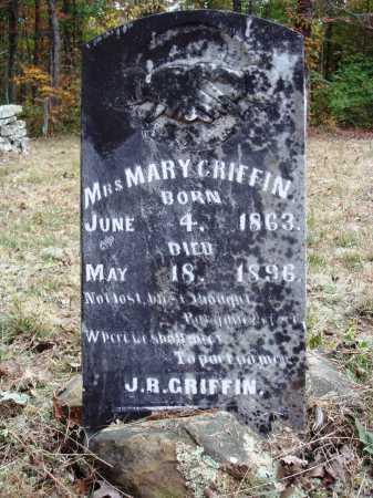 GRIFFIN, MARY F. - Newton County, Arkansas   MARY F. GRIFFIN - Arkansas Gravestone Photos