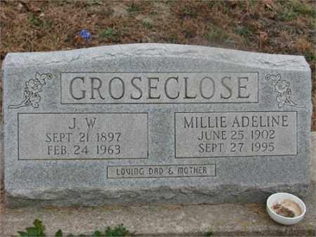 GROSECLOSE, JAMES W - Newton County, Arkansas | JAMES W GROSECLOSE - Arkansas Gravestone Photos