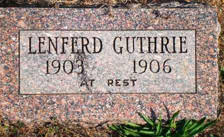 GUTHRIE, LENFERD - Newton County, Arkansas | LENFERD GUTHRIE - Arkansas Gravestone Photos