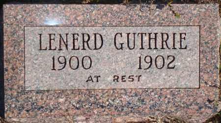 GUTHRIE, LENERD - Newton County, Arkansas   LENERD GUTHRIE - Arkansas Gravestone Photos