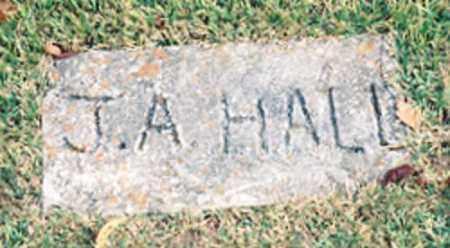 HALL, J.A. - Newton County, Arkansas   J.A. HALL - Arkansas Gravestone Photos
