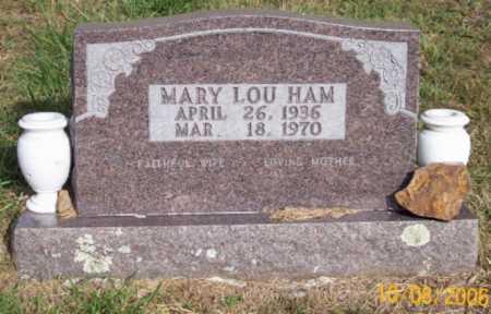HAM, MARY LOU - Newton County, Arkansas | MARY LOU HAM - Arkansas Gravestone Photos
