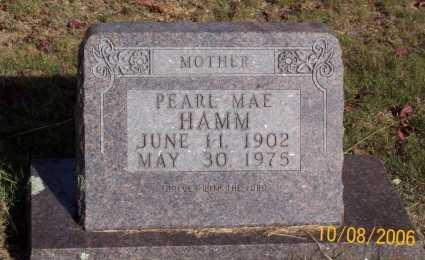 HAMM, PEARL MAE - Newton County, Arkansas | PEARL MAE HAMM - Arkansas Gravestone Photos