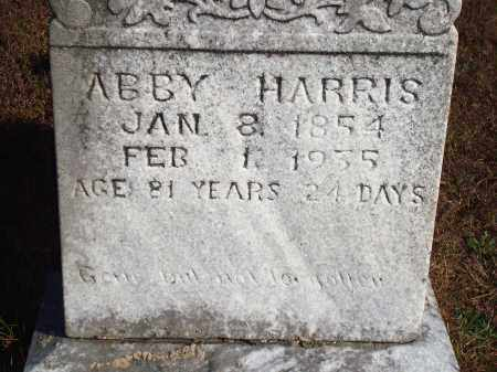 HARRIS, ABBY - Newton County, Arkansas | ABBY HARRIS - Arkansas Gravestone Photos