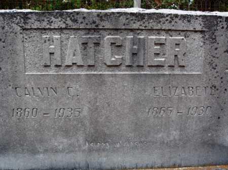 HATCHER, CALVIN C. - Newton County, Arkansas | CALVIN C. HATCHER - Arkansas Gravestone Photos