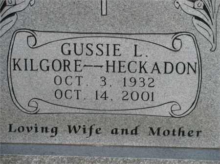 KILGORE HECKADON, GUSSIE L. - Newton County, Arkansas | GUSSIE L. KILGORE HECKADON - Arkansas Gravestone Photos