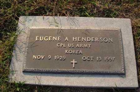 HENDERSON  (VETERAN KOR), EUGENE A - Newton County, Arkansas | EUGENE A HENDERSON  (VETERAN KOR) - Arkansas Gravestone Photos