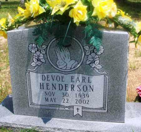 HENDERSON, DEVOE EARL - Newton County, Arkansas   DEVOE EARL HENDERSON - Arkansas Gravestone Photos