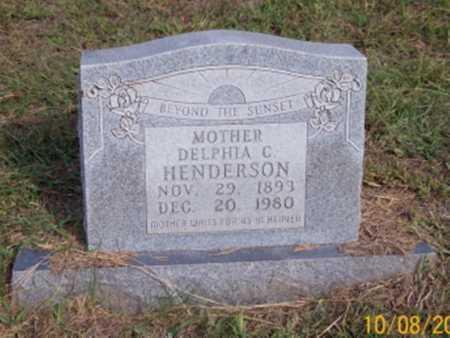 HENDERSON, DELPHIA C. - Newton County, Arkansas | DELPHIA C. HENDERSON - Arkansas Gravestone Photos