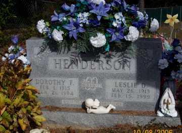 HENDERSON, LESLIE D. - Newton County, Arkansas | LESLIE D. HENDERSON - Arkansas Gravestone Photos