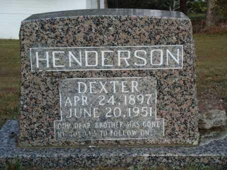 HENDERSON, DEXTER - Newton County, Arkansas | DEXTER HENDERSON - Arkansas Gravestone Photos