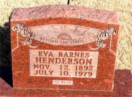 BARNES HENDERSON, EVA - Newton County, Arkansas | EVA BARNES HENDERSON - Arkansas Gravestone Photos