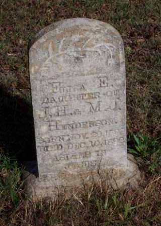 HENDERSON, ELIZA E. - Newton County, Arkansas   ELIZA E. HENDERSON - Arkansas Gravestone Photos
