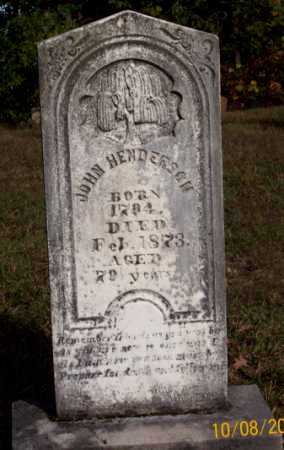 HENDERSON, JOHN - Newton County, Arkansas   JOHN HENDERSON - Arkansas Gravestone Photos