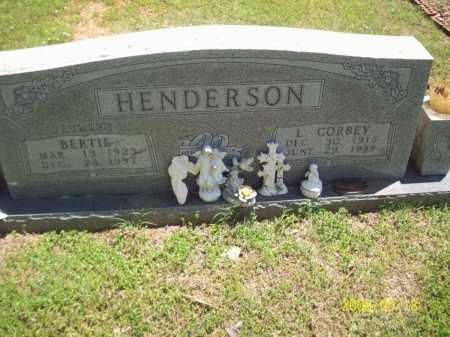 HENDERSON, BERTIE - Newton County, Arkansas | BERTIE HENDERSON - Arkansas Gravestone Photos