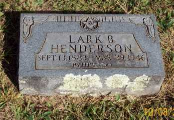 HENDERSON, LARK B. - Newton County, Arkansas | LARK B. HENDERSON - Arkansas Gravestone Photos