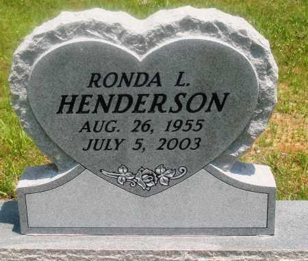 HENDERSON, RONDA L - Newton County, Arkansas | RONDA L HENDERSON - Arkansas Gravestone Photos