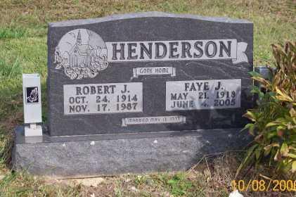 HENDERSON, FAYE J. - Newton County, Arkansas   FAYE J. HENDERSON - Arkansas Gravestone Photos