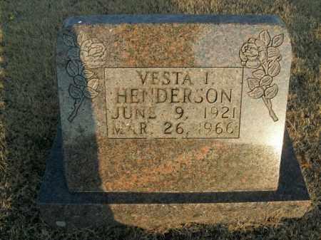 WATERS HENDERSON, VESTA IMOGENE - Newton County, Arkansas | VESTA IMOGENE WATERS HENDERSON - Arkansas Gravestone Photos