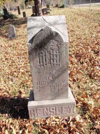 HENSLEY, HENRY W. - Newton County, Arkansas | HENRY W. HENSLEY - Arkansas Gravestone Photos
