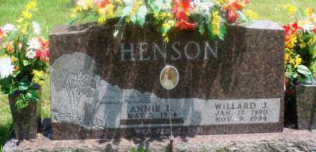 HENSON, WILLARD J - Newton County, Arkansas | WILLARD J HENSON - Arkansas Gravestone Photos