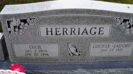 HERRIAGE, CECIL - Newton County, Arkansas | CECIL HERRIAGE - Arkansas Gravestone Photos