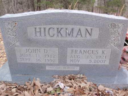 HICKMAN, JOHN D. - Newton County, Arkansas   JOHN D. HICKMAN - Arkansas Gravestone Photos