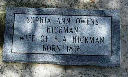 HICKMAN, SOPHIA ANN - Newton County, Arkansas | SOPHIA ANN HICKMAN - Arkansas Gravestone Photos