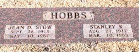 HOBBS, JEAN D. - Newton County, Arkansas | JEAN D. HOBBS - Arkansas Gravestone Photos