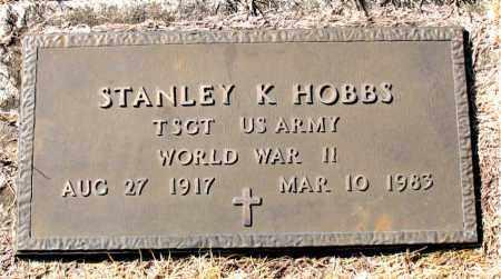 HOBBS  (VETERAN WWII), STANLEY K - Newton County, Arkansas | STANLEY K HOBBS  (VETERAN WWII) - Arkansas Gravestone Photos