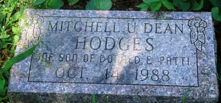 HODGES, MITCHELL U. DEAN - Newton County, Arkansas   MITCHELL U. DEAN HODGES - Arkansas Gravestone Photos