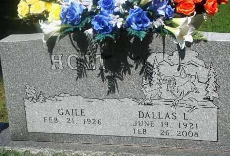 HOLT, DALLAS L - Newton County, Arkansas   DALLAS L HOLT - Arkansas Gravestone Photos