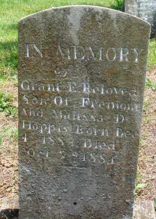 HOPPIS, GRANT E - Newton County, Arkansas | GRANT E HOPPIS - Arkansas Gravestone Photos