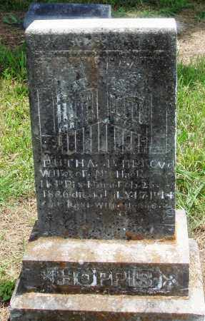 HOPPIS, RUTHA - Newton County, Arkansas   RUTHA HOPPIS - Arkansas Gravestone Photos