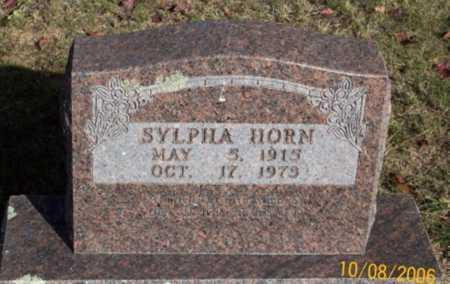 HORN, SYLPHA - Newton County, Arkansas   SYLPHA HORN - Arkansas Gravestone Photos