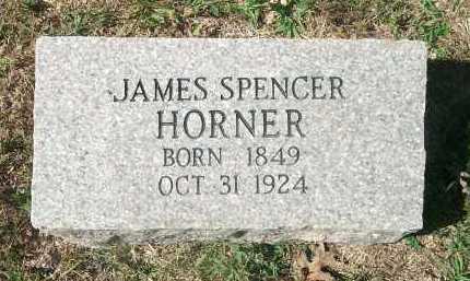 HORNER, JAMES SPENCER - Newton County, Arkansas | JAMES SPENCER HORNER - Arkansas Gravestone Photos