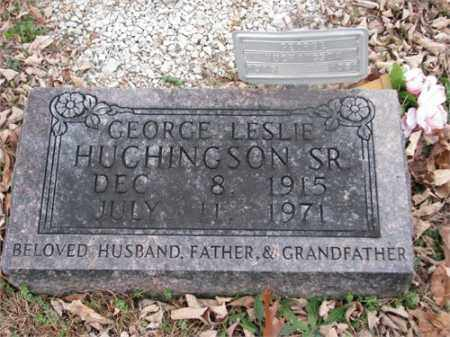 HUCHINGSON, GEORGE LESLIE - Newton County, Arkansas | GEORGE LESLIE HUCHINGSON - Arkansas Gravestone Photos